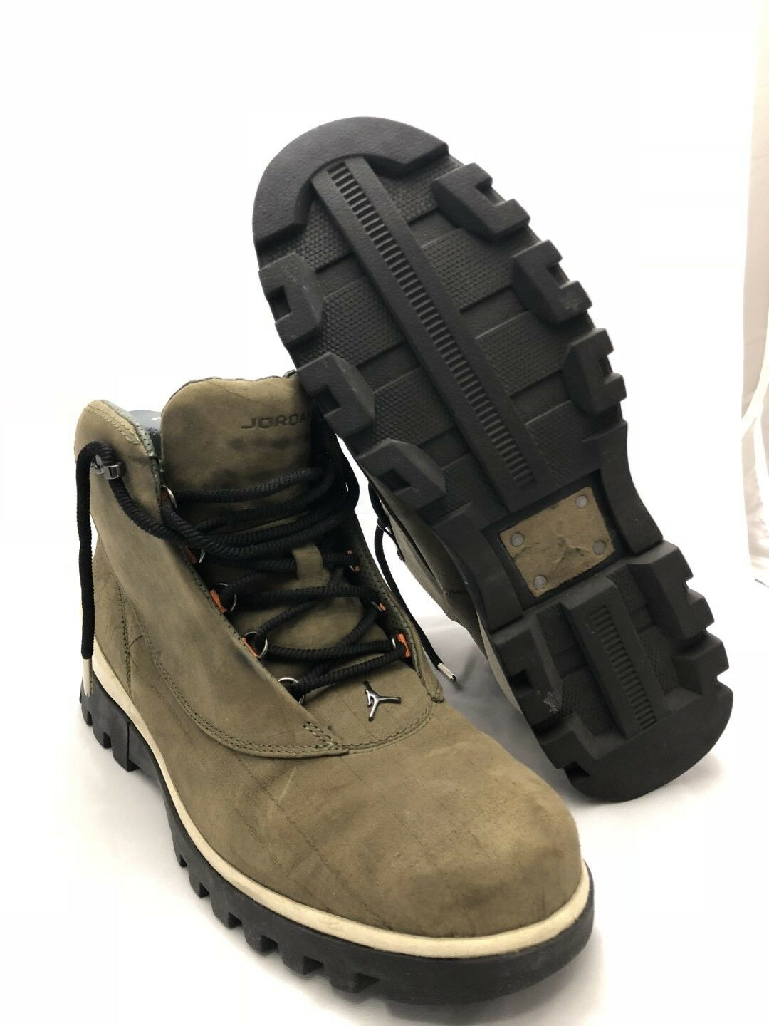 USED DS Air Nike Air DS Jordan  2CLEAN Boots Army Olive Orange 2006 Size 11 313509 381 b0ec9c