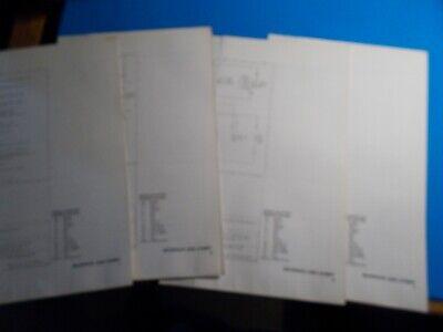 1976 FORD MAVERICK MERCURY COMET WIRING DIAGRAMS 4 DOUBLE ...