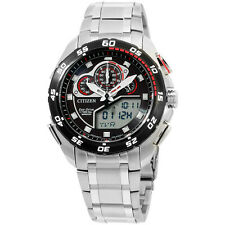 Citizen Promaster Analog Display Japanese Quartz Silver Men's Watch JW0111-55E