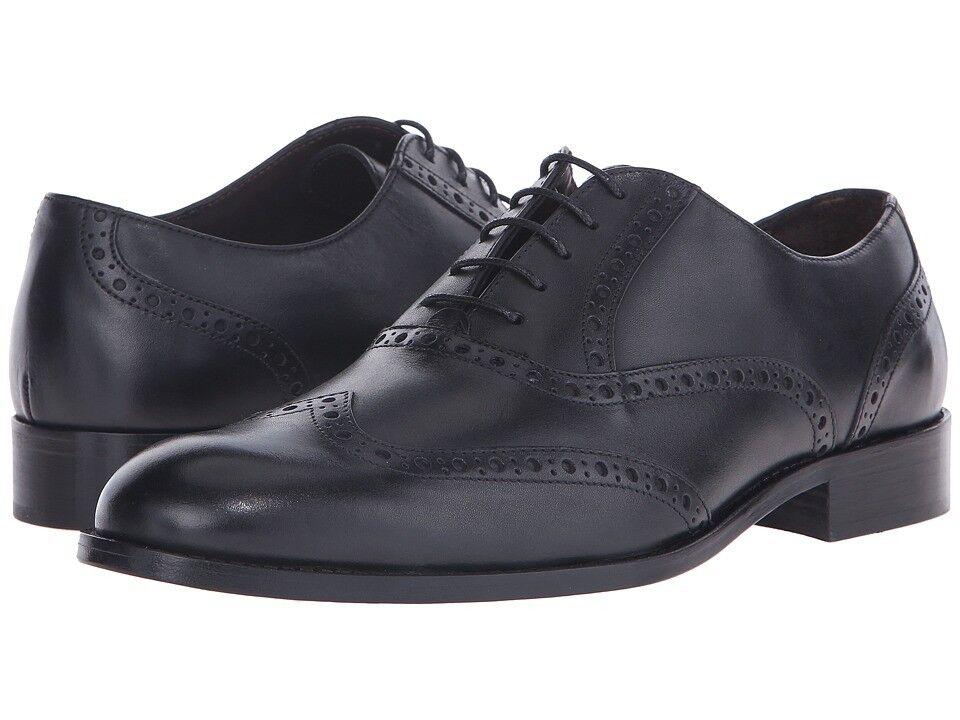 Bruno Magli Mens Alvar Wingtip Oxford Black Leather Dress Shoes 11.5 NEW IN BOX