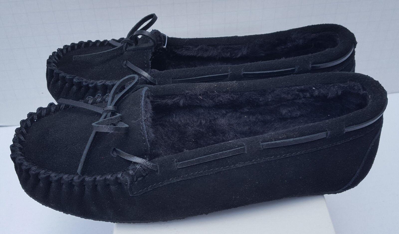 New New New donna Minnetonka scarpe Slip On Loafers & Moccasins Sheepskin nero Allie 7 c221cc