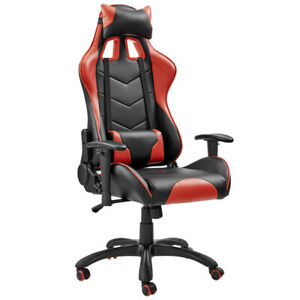 ErgoDuke Jedi Thunder Racing PU Leather Seat Gaming Office Chair Red & Black