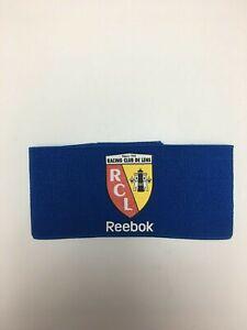 Utile Nouveau Vintage Reebok Racing Club De Lens Bleu Football Sports Capitaines Brassard-afficher Le Titre D'origine