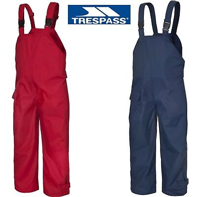 Dry Kids Childrens Waterproof Trousers Dungarees Unlined Boys /& Girls 2-12yrs