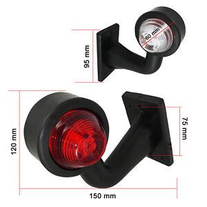 2-x-LED-Begrenzungsleuchte-Umrissleuchte-LKW-TRAILER-Anhaenger-12V-E-Mark-0207