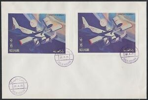 1972-Ras-al-Khaima-FDC-Mi-A852-A-B-Space-Weltraum-Skylab-brd649