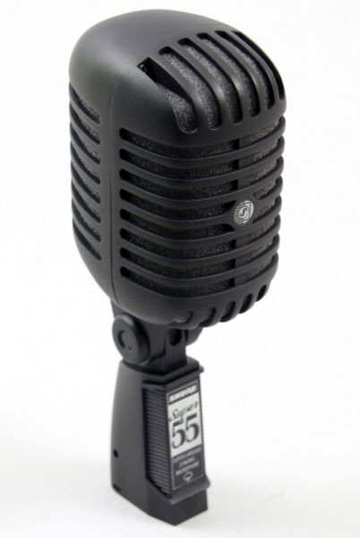 shure super 55 black limited edition vocal microphone super55 2 day for sale online ebay. Black Bedroom Furniture Sets. Home Design Ideas