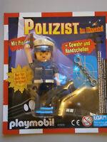 Playmobil * 1 Polizist im Einsatz * Gewehr,Handschellen * Neu * Limitierte Figur