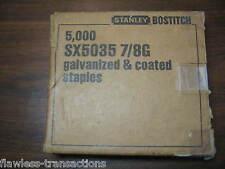 "STANLEY BOSTITCH 7/8"" x 7/32"" Galvanized Coated 5000 Staples SX5035 7/8G NEW"