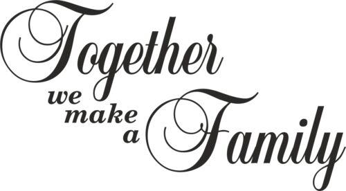 // mur autocollants nous faisons une famille Art Mur Autocollants muraux citations Ensemble