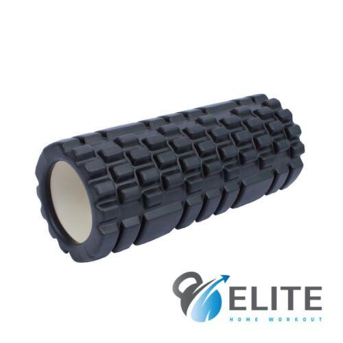 UK STOCK EHW Pro High Density 30cm Black Foam Roller FREE UK DELIVERY