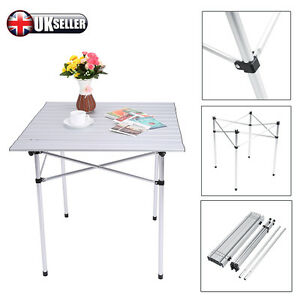 Image Is Loading Hot Aluminium Roll Top Table Garden Picnic Rollup
