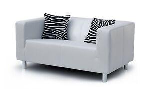 Vicco Sofa 2 Sitzer Couch Pu Leder 135x85cm Weiß Ebay