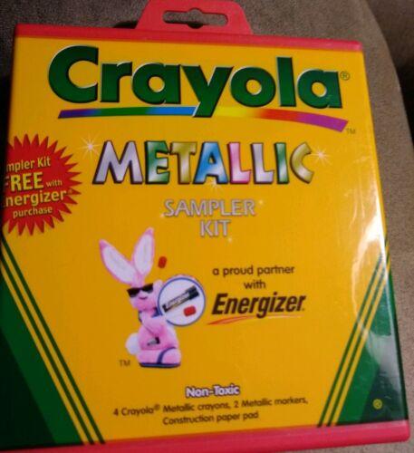 Metallic Sampler Kit 4 Crayola Crayons 2 Markers Non Toxic Assorted Colors C187