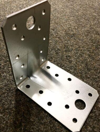66 Lochwinkel Winkelverbinder Bau-Winkel verzinkt 90x90 verstärkt Zulassung W9