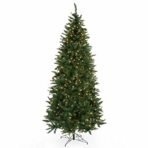 d6fb6fb1421 Finley Home 9  Pre-lit Classic Pine Full Artificial Christmas Tree ...