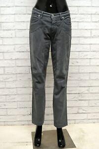 Pantaloen-JECKERSON-Donna-Taglia-31-Jeans-Pants-Woman-Cotone-Grigio-Gamba-Dritta