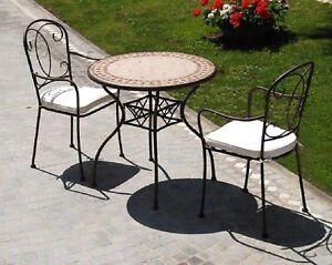 Tavolo tondo con piastrelle diametro 78 per esterno arredo giardino ebay - Tavolo con piastrelle ...