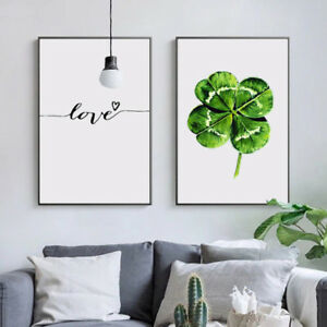 NORDIC-LEAF-LOVE-CANVAS-WALL-PAINTING-PICTURE-POSTER-HOME-WALL-ART-DECOR-SUPREME