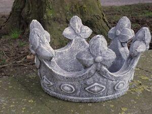 Steinfiguren Garten steinfigur krone frostfest garten deko steinguss skulptur stein
