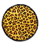 South Beach leopard circular Round Holiday Beach Rouge Animal Print fringedthrow