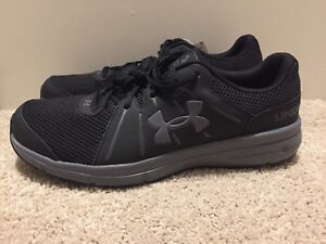 separation shoes 7d0e7 9a83d Details about Under Armour UA Micro Dash RN 2 Running Shoes Black/Gray Mens  11 1285671 002 NEW