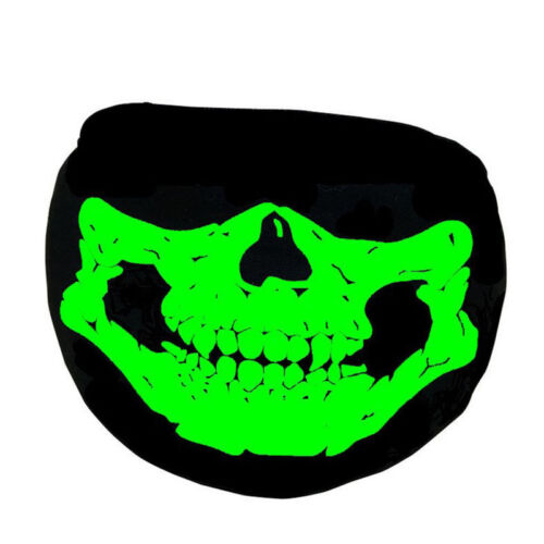 Luminous Cotton Mouth-muffle Fearful Skull Teeth Cosplay Half Face Mouth Ma S8N1