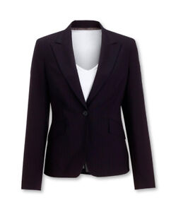Alexandra-Workwear-Ladies-Cadenza-Short-Line-Jacket-Navy-Pin-Stripe
