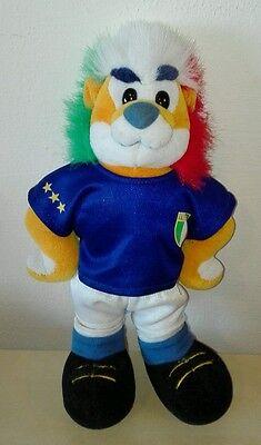 peluche mascotte leone italia trudi 2006