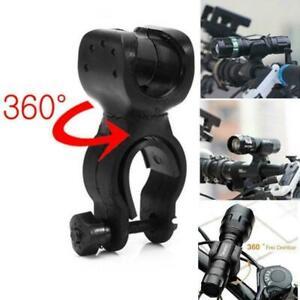 360-Rotation-Torch-Clip-Mount-Bicycle-Bike-Light-Flashlight-Bracket-Holder-B3C9