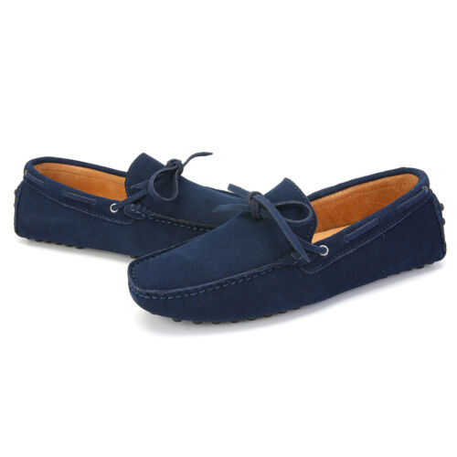 Mens Suede Loafers Driving Moccasins Casual Soft Penny Shoes Comfortable Flats