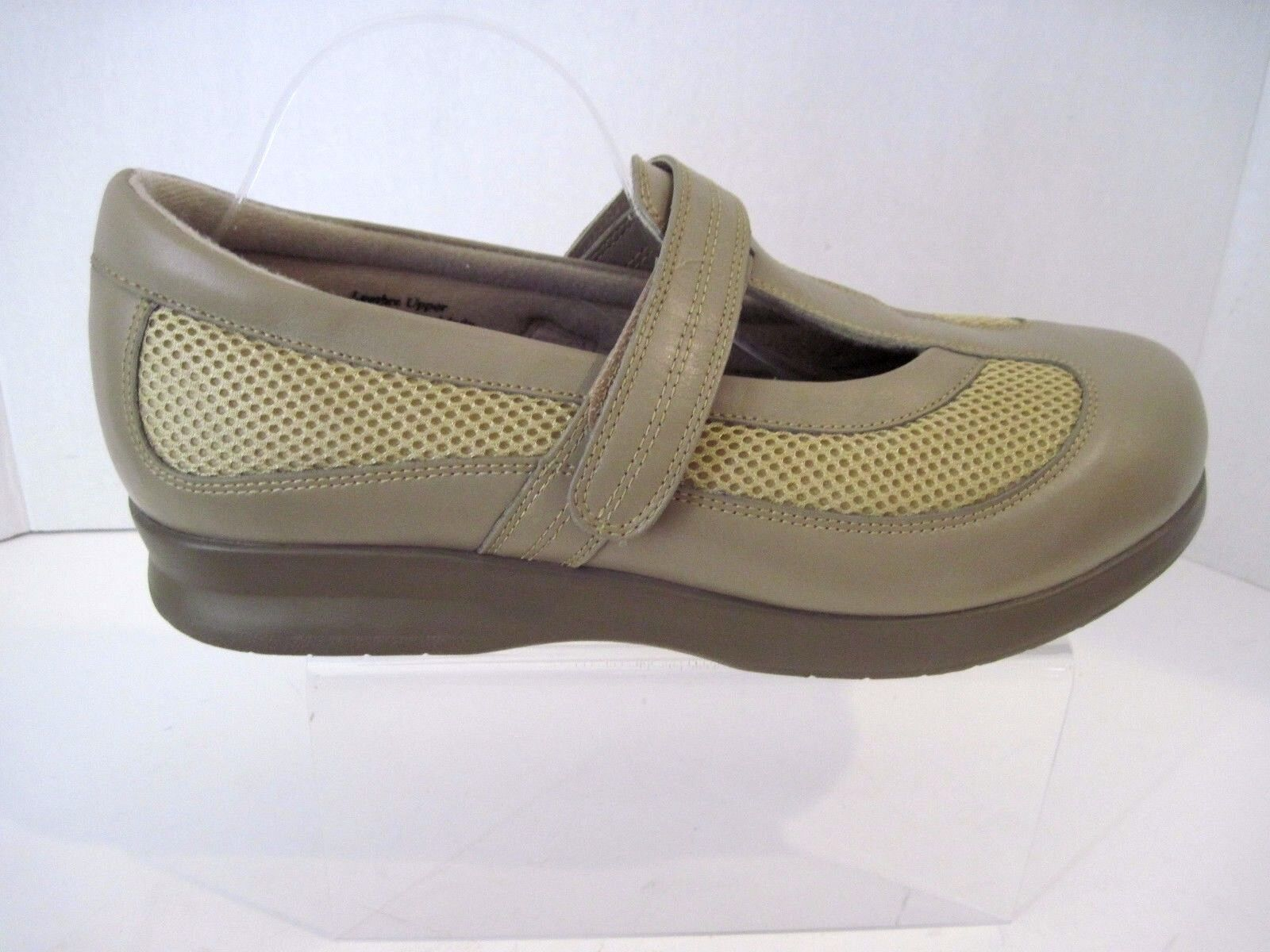 DREW DESIREE DIABETIC ORTHOTIC WALKING SHOES 14385-77 TAUPE COMBO 11 1 2 W NEW