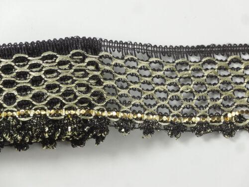 "01Yd Metallic Ribbon Trim 02/"" wide Woven Border Embroidere jacquard Sew  T317"