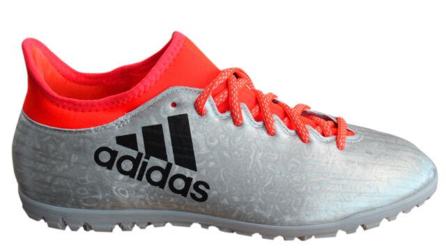 best sneakers 43fb4 a44df Adidas X 16.3 Tf Astro Turf con Cordones Plata Naranja Botas Fútbol Hombre