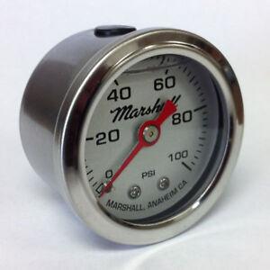 Marshall-1-5-034-Direct-Mount-Liquid-Filled-Fuel-Pressure-Gauge-Silver-LS00100