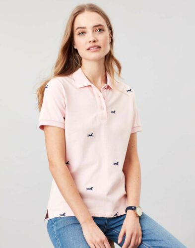 PINK HORSE Joules Womens Pippa Printed Polo Shirt