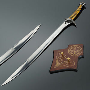 LORD-OF-THE-RINGS-ORCRIST-SWORD-OF-THORIN-OAKENSHIELD-with-FREE-wall-plaque