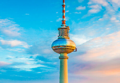 WANDBILD BERLIN FERNSEHTURM STADT d-B-0161-b-a KUNSTDRUCK LEINWAND BILDER XXL