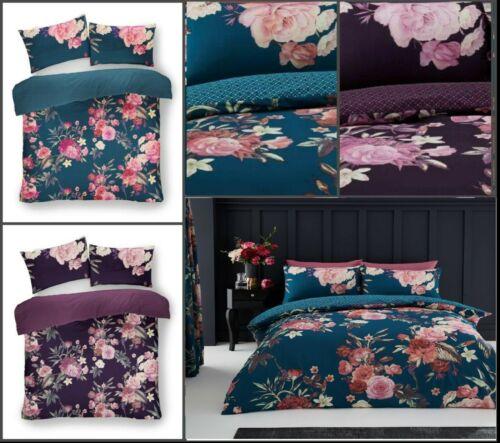 Luxuries FLORA Floral Reversible Duvet Cover Pillow Case Bedding Set Al Size