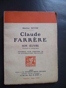 Maxime Revon Claude Farrere Son Maestra 1924 Retrato Y Autografo Edit.orig