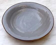 Piatto Fondo in Ceramica creato dipinto Mano Grigio scodella gres porcellanato