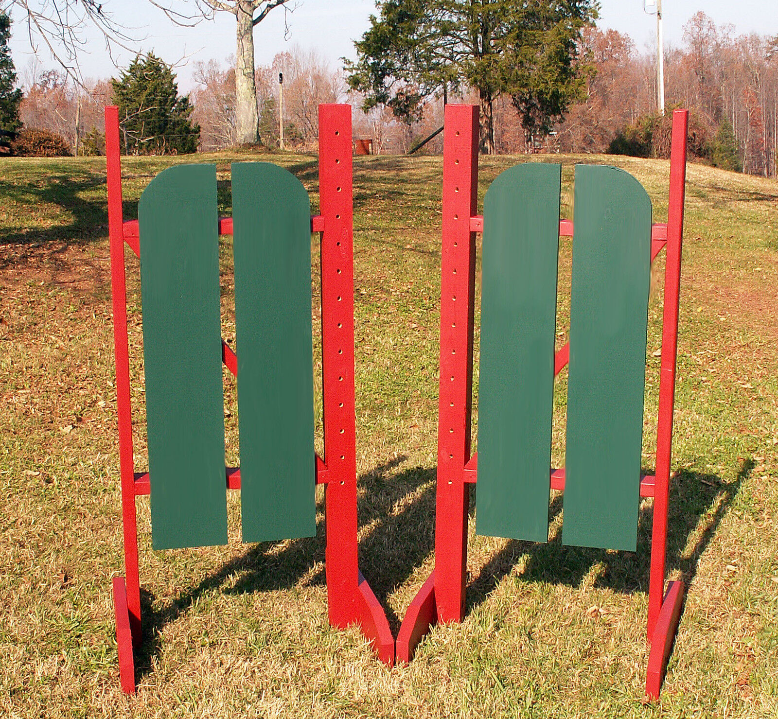 Horse Jumps 2 Panel Barn Door Standards 5ft Pair - Farbe Choice