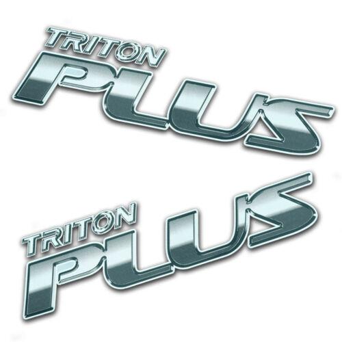 Sticker Badge TRITON PLUS Trim Silver For Mitsubishi L200 Triton 2005 2014