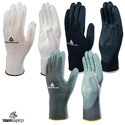 New Men/'s 10 Pairs Of Pu Coated Polyester Precision work Gloves One Size