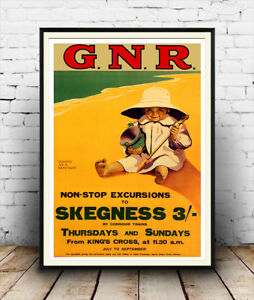 Skegness Old Travel Poster reproduction