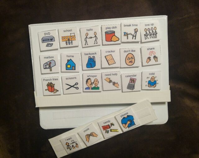 White Pecs Picture Exchange Communication Book Symbols Autism Speech