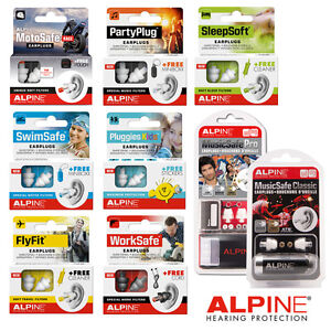 Alpine-EARPLUGS-Sleepsoft-Partyplug-Motosafe-Musicsafe-Swimsafe-Pluggies-Multi