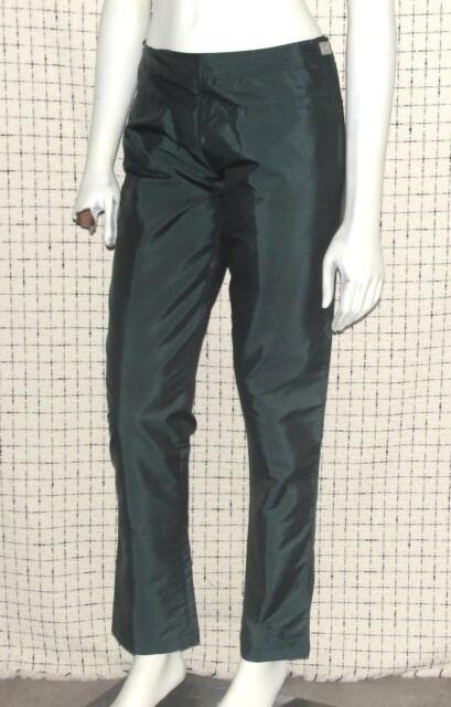 CHANEL~AUTHENTIC~METALLIC SHINNY *SEASON 02A* COCKTAIL SLIM DRESS ANKLE PANTS~36