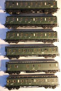 45-Konvolut-5-Abteilwagen-1-Postwagen-der-DR-Epoche-III-in-H0-von-Fleischmann