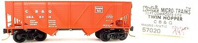 Radient Micro Trains Line 57020 Cb & O 194573 33' Twin Bay Hopper 1:160 Ovp #i145 Å Model Railroads & Trains